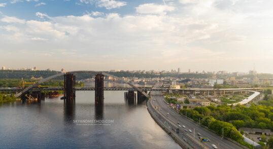 Киев с высоты. Подольско-Воскресенский мост