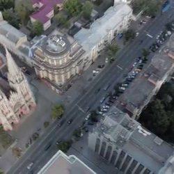 Съёмка архитектурного блока БЦ «Торонто-Киев» и Николаевского костёла