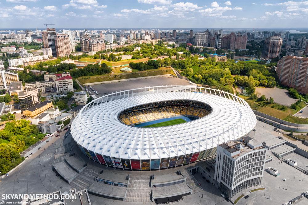 НСК Олимпийиский с высоты