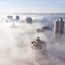 Оболонь в тумане