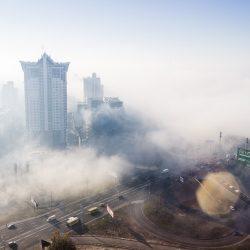 Туман на Березняках
