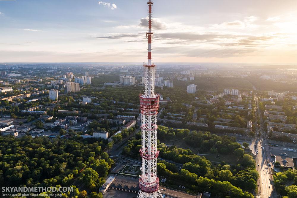 Киевская телевышка с высоты