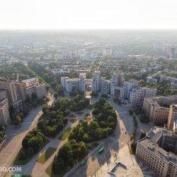 Харьков с высоты птичьего полёта