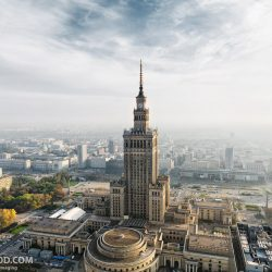 Варшава с высоты птичьего полёта. Aerial Warsaw. Warszawa od wysokości lotu ptaka