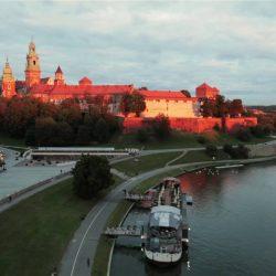 Krakow aerial. Kraków z wysokości