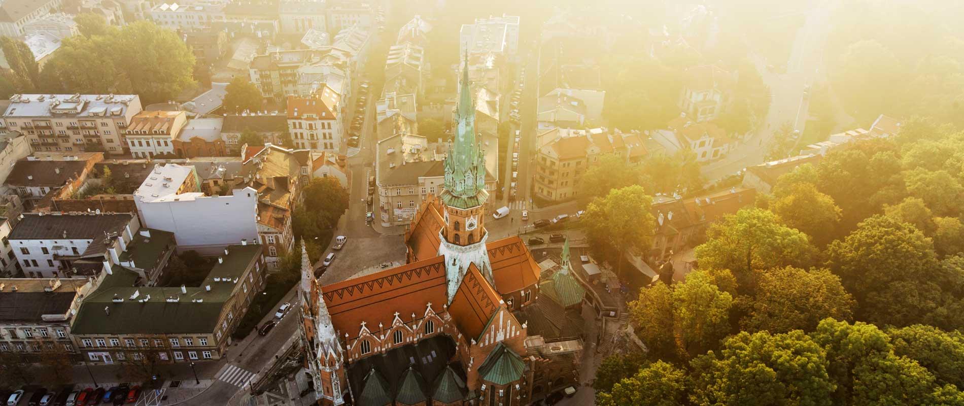 Aerial Krakow. Kraków z wysokości
