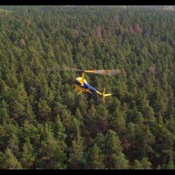 Аэросъемка вертолёта Robinson R44 в Киеве