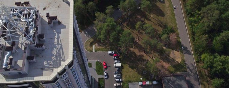 Аэросъемка жилого комплекса «Зелёный квартал» в г.Бровары