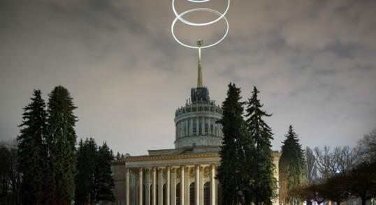ВДНХ с использованием дрона и источников света