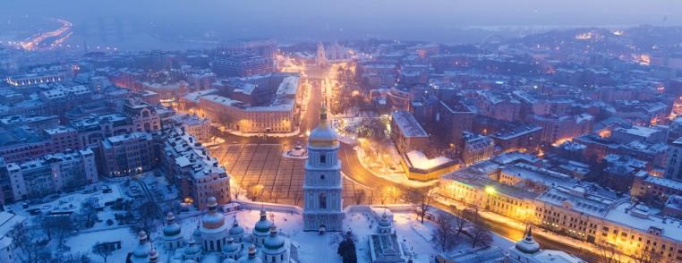 Софийская площадь зимой