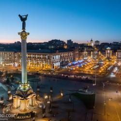 Ночной Киев на новогодние праздники 2018