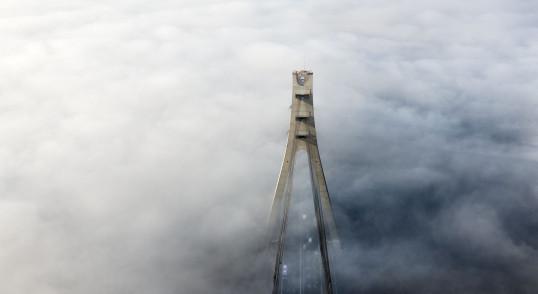 Северный мост, Московский мост в тумане