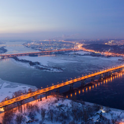 Ночной Киев зимой