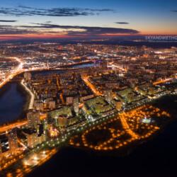 Ночной Киев с высоты
