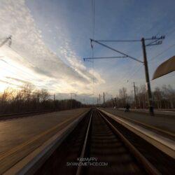 FPV видеосъёмка на железнодорожной станции в Киеве